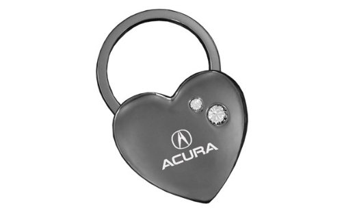 (Acura Black Heart Key Chain Swarovski Crystals Keychain)