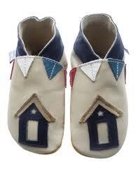 Daisy Roots suave piel Sentry cabaña con banderines zapatos de bebé (talla 0–