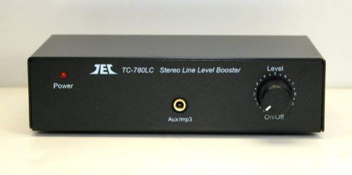 TCC TC-780LC BLACK Stereo Line Level Amp / Booster with iPod Jack; includes optional PREMIUM HIGH POWER AC Adaptor
