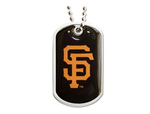 aminco San Francisco Giants Dog Tag Domed Necklace Charm Chain Mlb