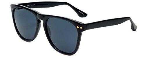 (Isaac Mizrahi Designer Sunglasses IM88-10 in Midnight Black with Grey Lenses )