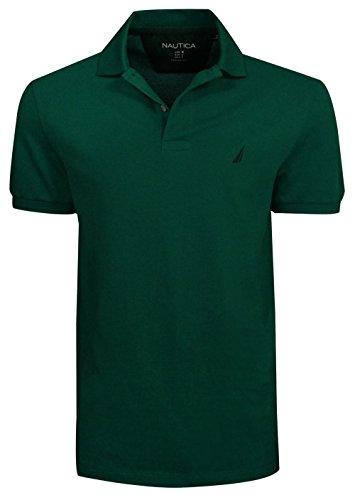 Nautica Mens Pique Solid Shirt