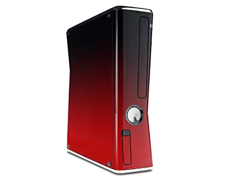Smooth Fades Red Black Decal Style Skin for XBOX 360 Slim ()