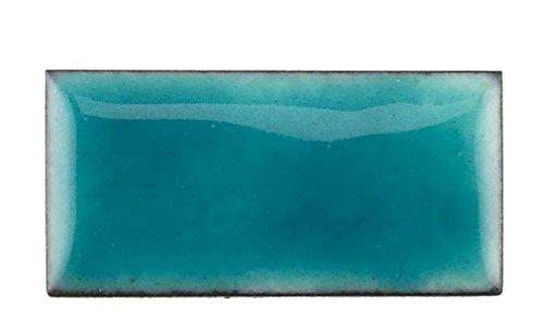 Thompson Enamel - Transparent Colors - 1/2 oz Jar, Lead Free Vitreous Enamel Powder (Sea Green 2420)