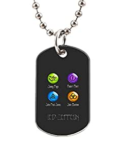 Led Zepplin Logo Customized Dog Tag Pet Tags Dogtag Necklace Charm Unique Gift