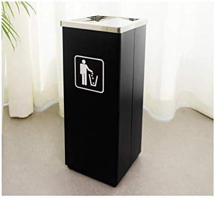 葉巻灰皿, ゴミ箱、ホテル廃棄物、灰皿リサイクルバケット(色:黒、サイズ:24 * 61センチメートル* 24)とディックホールホテルのロビーのロビーでステンレス鋼のゴミ箱垂直エレベーター、サイズ:24 * 24 * 61センチメートル、色:ブラック (Color : Black, Size : 30*30*68CM)