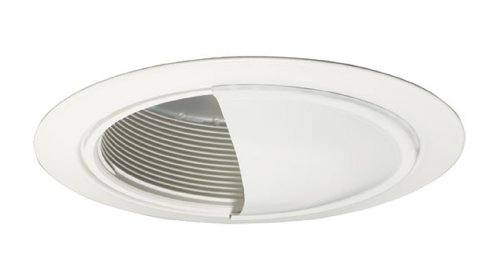 Juno Lighting 213B-WH 5-Inch Downlight Black Baffle with Wall Wash, White (Alzak Wall Wash)