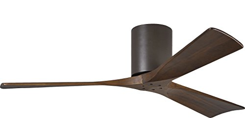 - Matthews IR3H-TB-52, Irene Textured Bronze Flush Mount 52