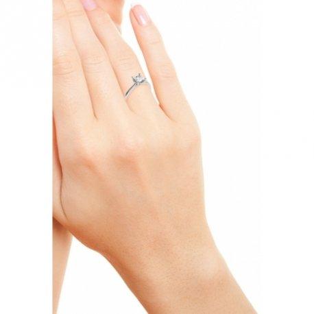 HARMONY Bagues Or Jaune 18 carats Saphir Blanc 0,6 Princesse