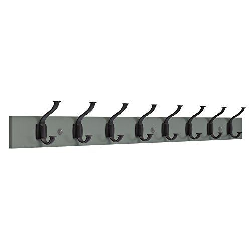 Franklin Brass R37832K-WGB-R Industrial Craftsman Hook Rack, 45 in. Warm Gray and Flat Black