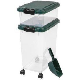3-Piece Remington Airtight Container Combo, Green (12 quart / 33 quart with 2 cup scoop) from IRIS USA, Inc.