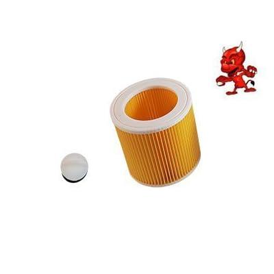 1 Cartouche de filtre Filtre rond FILTRE À LAMELLES convient à Kärcher WD 2500 avec