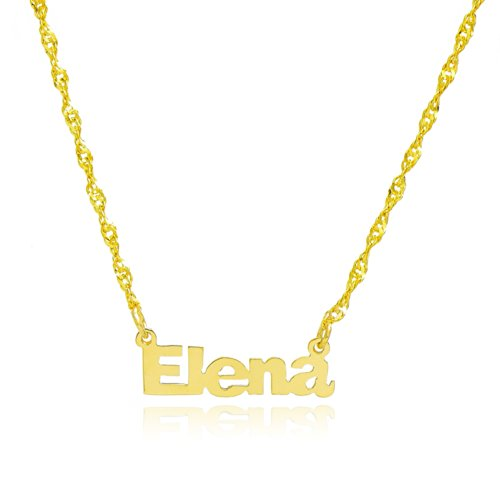 10k Yellow Gold Personalized Name Necklace - Style 7
