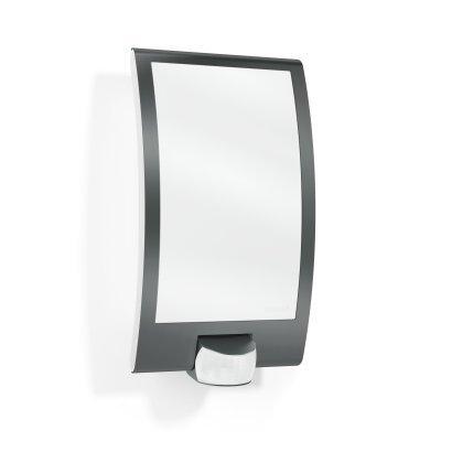 Lámpara de pared para exteriores de Steinel, con detector de movimiento a 180 grados y alcance máximo de 10 m, plástico, antracita, E27 60W 230V: Amazon.es: ...