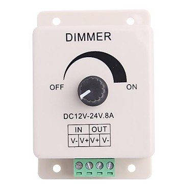 Power Supply Operado-Perilla Led Dimmer regulador Ajustable del Brillo de luz LED (DC12-24V 8A) HUILIAN