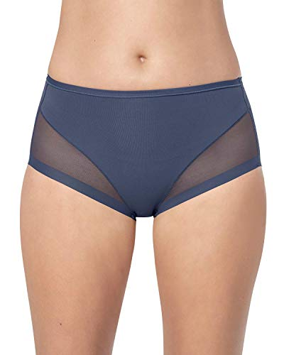 Leonisa Truly Invisible Compression Shapewear Panty with Light Slimming Tummy Control for Women Blue