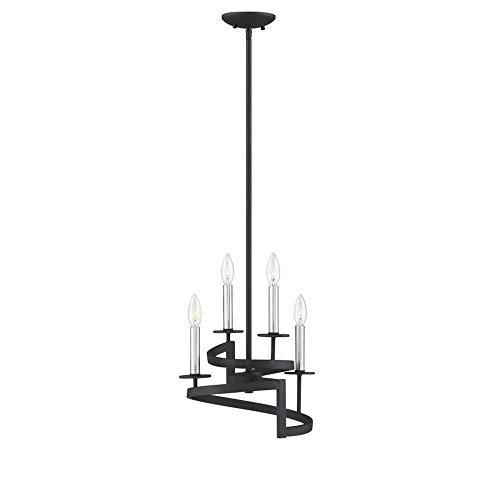 (Savoy House Monteray 4-Light Pendant in Black with Satin)
