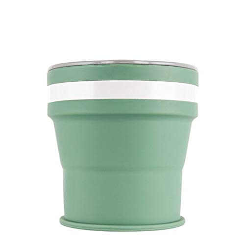 Portable Travel Silicone Retractable Folding Cup Men Women Telescopic Collapsible Cup (Green) by Sihand (Image #1)