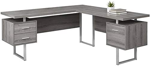 Levan Home L Shaped Corner Computer Desk