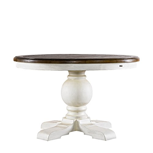 48' Round Dining Table (Curations 8831.2201.M 48'' Round Trestle Vintage White Table Not Applicable, Natural Oak)