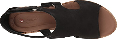 Plaza Clarks Strap Para Negro Mujer RXqXd