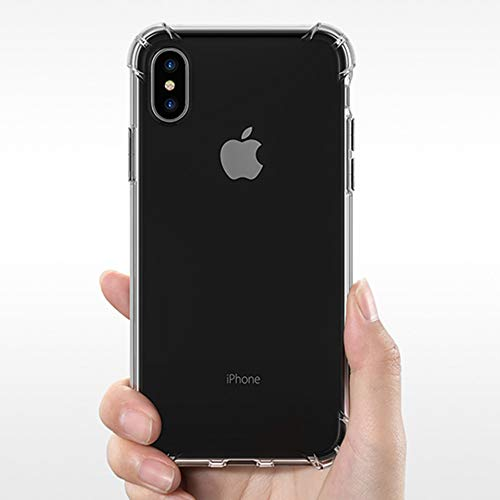 (Ultra Hybrid iPhone X Case with Air Cushion Technology & Clear Hybrid Drop Protection for Apple iPhone X (2017) - Crystal Clear …)