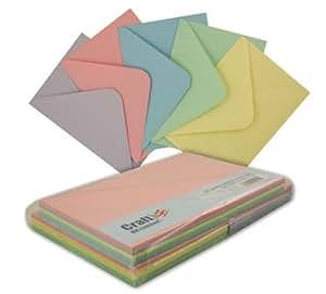 &C6 Lot de 50 cartes et enveloppes-Pastel