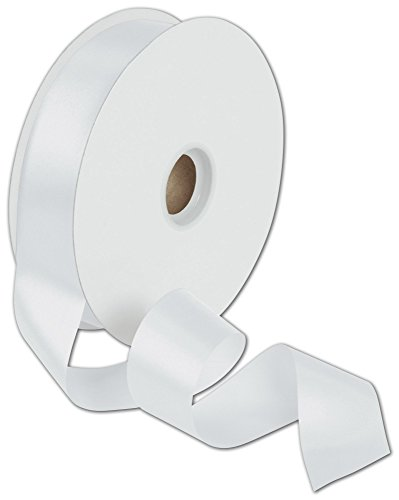 Ribbons Solid Color - Dyna White Satin Ribbon, 1 3/8