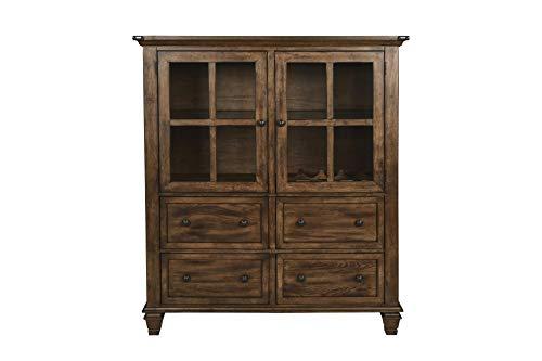 New Classic Furniture D1505-46 Sutton Manor China Cabinet, Distressed Oak