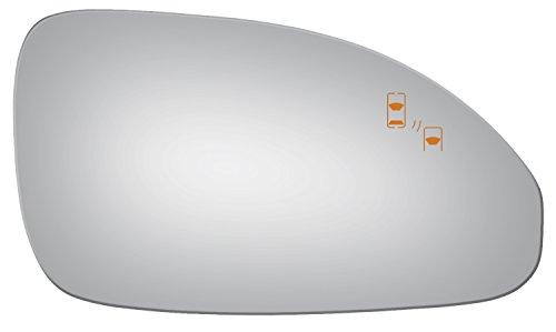 (Burco 5683B Passenger Side Mirror Glass w/ Blind Spot for 2013-2016 Buick Enclave)