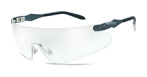 Lightweight Unisex Sports Wrap Sunglasses w/ Super Light Transparent Tinted Shield Lens (Metallic Blue, (Metallic Wrap Around Sunglasses)