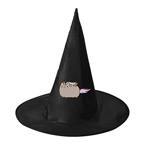 Couples Dog Cat Costume (Halloween hat Pusheen the Cat Couple Witch Costume Hat Costume Accessory for)