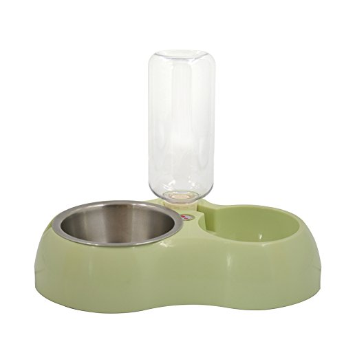 Water and Food Feeder For Dog and Cat (Green) - 6