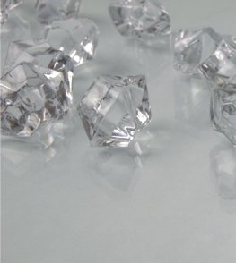Dashington 6 Pounds - Clear Translucent Acrylic Gems, Ice Rocks, for Table Scatter, Vase Filler, Aquarium Decor, Bulk Amount.