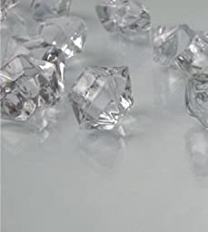 Dashington 6 Pounds - Clear Translucent Acrylic Gems, Ice Rocks, for Table Scatter, Vase Filler, Aquarium Decor, Bulk Amount.