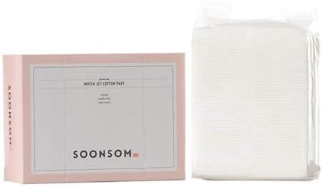 SoonSom Korea – Almohadillas de algodón en relieve hechas con 100 % algodón natural; 100 unidades: Amazon.es: Belleza