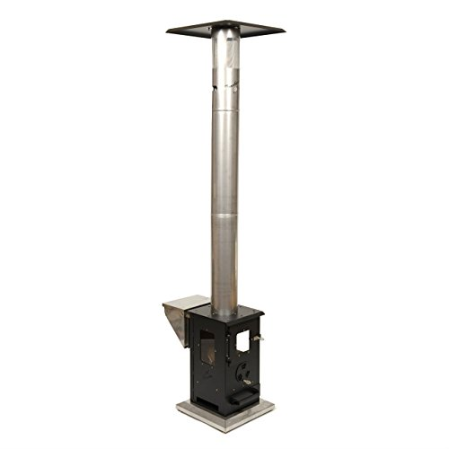 Wood Pellet Outdoor Patio Heater - Propane Alternative, Portable, No Smoke, 72,000 BTU's, 10 Ft Heating Radius, Enclosed Flame Perfect for Patios, Backyards, Decks, and Camping (Lil -