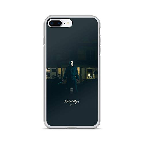 iPhone 7 Plus/8 Plus Case Anti-Scratch Motion Picture Transparent Cases Cover Michael Myers Halloween Movies Video Film Crystal Clear -