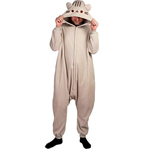 Pusheen Kigurumi Hooded One Piece Zip-up Suit Costume Pajamas (One Size) ()