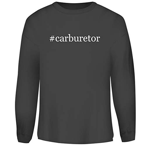 One Legging it Around #Carburetor - Hashtag Men's Funny Soft Adult Crewneck Sweasthirt, Grey, Medium