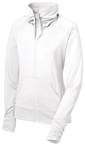 Sport-Tek Ladies Sport-Wick Stretch Full-Zip Jacket>XXL White LST852 (Track Cashmere Jacket)