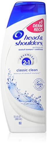 Head & Shoulders Classic Clean 2-in-1 Dandruff Shampoo & Conditioner, 13.5 Ounce (Pack of 3)