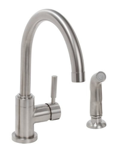 Pvd Kitchen - Premier Faucet 120098 Essen Lead-Free Single-Handle High-Arc Kitchen Faucet, PVD Brushed Nickel