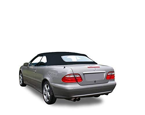 Mercedes Benz CLK Series 1999-2003 Convertible Soft Top Stayfast Cloth (Black)