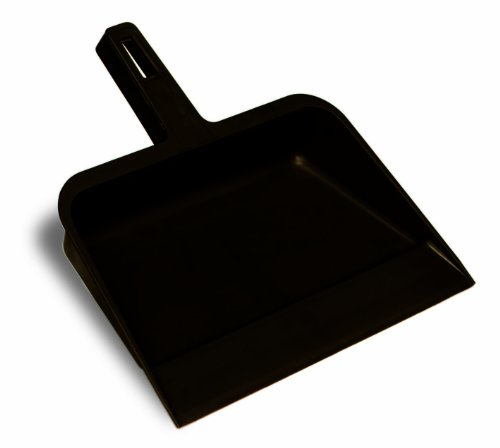 (Continental 712 Black Plastic Industrial Dust Pan)