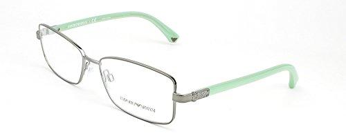 Emporio Armani Womens 1004 Gunmetal / Light Green Frame Metal Eyeglasses, 54mm