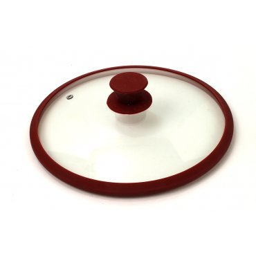 10' Glass Lid (Hamilton Beach 10 Inch Glass Lid with Silicone Rim Red 06395)