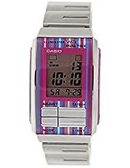 Casio #LA201W-4C Womens Futurist Metal Band Alarm Chronograph Digital Watch