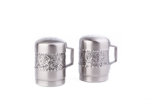 Old Dutch Antique Embossed Victoria Stovetop Salt and Pepper Set, 4-1/4-Inch (Stove Top Salt And Pepper Shakers)