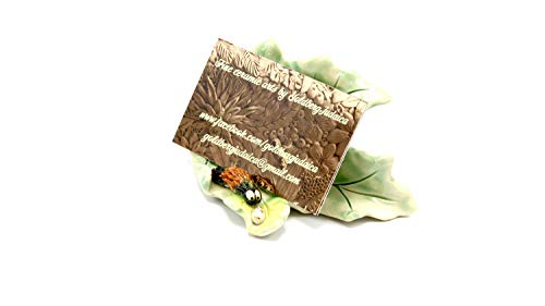 (Maple leaf business card holder featuring your favorite Wooly Bear caterpillar Fuzz and his glitterberry!)